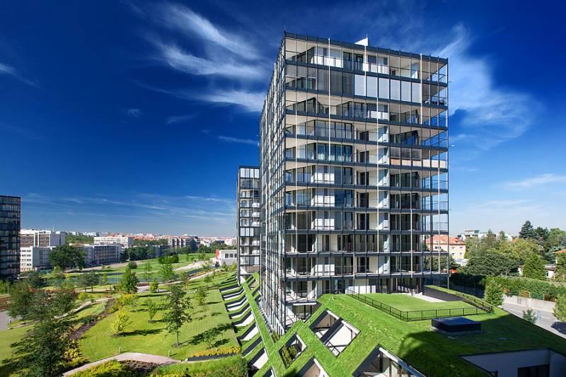 Nový byt 1+kk s předzahrádkou, plocha 52m2.